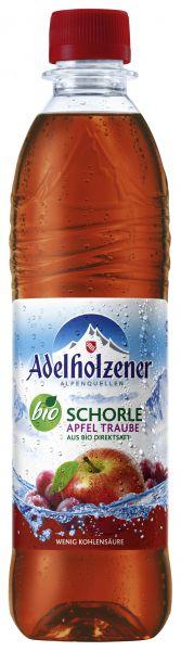 ADELHOLZENER BIO Apfel-Traubenschorle 12/o,5 Ltr. PET