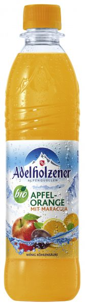 ADELH. BIO Apfel - Orange - Maracuja 12/o,5 Ltr. PET
